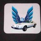 New 1979 White Pontiac Formula Firebird LOGO Mousepad!