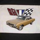 New 1967 Gold Chevy Chevelle w/ logo Hand Towel