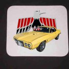 New 1969 Yellow Firebird w/LOGO Mousepad!