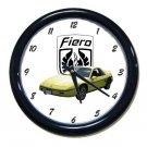 New 1984 Yellow Pontiac Fiero w/LOGO Wall Clock