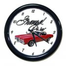 New Red 1969 Pontiac Grand Prix w/LOGO Wall Clock