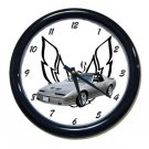 New 1989 Silver Pontiac Trans AM  w/LOGO Wall Clock