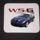 New Blue 2002 Pontiac Firebird Trans AM Convertible w/ WS6 LOGO Mousepad!