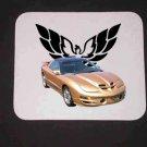 New Gold  2002 Pontiac Firebird Trans AM w/ Eagle LOGO Mousepad!