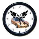 New Gold 2002 Pontiac Firebird Trans AM w/ Eagle LOGO Wall Clock