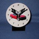 New Red 2002 Pontiac Firebird Trans AM w/ Eagle LOGO desk clock!