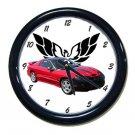 New Red 2002 Pontiac Firebird Trans AM w/ Eagle LOGO Wall Clock