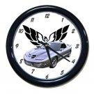 New Silver 2002 Pontiac Firebird Trans AM w/ Eagle LOGO Wall Clock