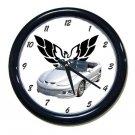 New Silver 2002 Pontiac Firebird w/ Eagle LOGO Wall Clock