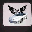 New Silver 2002 Pontiac Firebird w/ Eagle LOGO Mousepad!