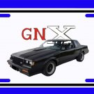 NEW 1987 Buick GNX License Plate FREE SHIPPING!
