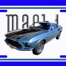 NEW Blue 1969 Ford Mustang Mach1 License Plate FREE SHIPPING!