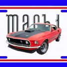 NEW Red 1969 Ford Mustang Mach1 License Plate FREE SHIPPING!
