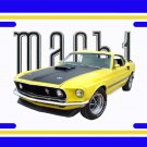 NEW Yellow 1969 Ford Mustang Mach1 License Plate FREE SHIPPING!