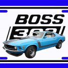 NEW Blue 1970 Ford Boss Mustang License Plate FREE SHIPPING!
