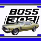NEW Green 1970 Ford Boss Mustang License Plate FREE SHIPPING!