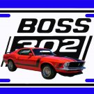 NEW Red 1970 Ford Boss Mustang License Plate FREE SHIPPING!