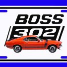 NEW Red/Orange 1970 Ford Boss Mustang License Plate FREE SHIPPING!