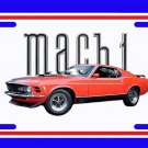 NEW Red 1970 Ford Mustang Mach1 License Plate FREE SHIPPING!