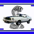NEW 1976 White Ford Mustang Cobra License Plate FREE SHIPPING!