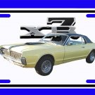 NEW 1967 Light Green Ford Mercury Cougar w/XR7 logo License Plate FREE SHIPPING!
