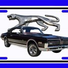 NEW 1968 Black Ford Mercury Cougar w/walking cat logo License Plate FREE SHIPPING!