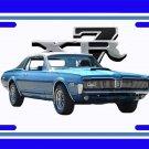 NEW 1968 Blue Ford Mercury Cougar w/XR7 logo License Plate FREE SHIPPING!