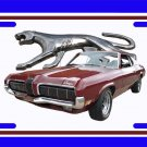 NEW 1968 Maroon Ford Mercury Cougar w/walking cat logo License Plate FREE SHIPPING!