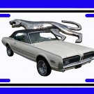 NEW 1968 White Ford Mercury Cougar w/walking cat logo License Plate FREE SHIPPING!