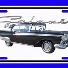 NEW 1959 Black Ford Galaxy License Plate FREE SHIPPING!