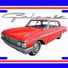 NEW 1962 Red Ford Galaxy License Plate FREE SHIPPING!