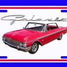 NEW 1962 Red w/ White top Ford Galaxy License Plate FREE SHIPPING!