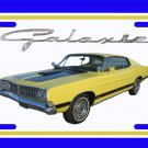 NEW 1968 Yellow Ford Galaxy License Plate FREE SHIPPING!