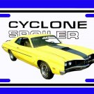 NEW 1970 Yellow Ford Mercury Cyclone Spoiler License Plate FREE SHIPPING!
