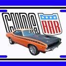 NEW 1970 Plymouth Orange AAR Cuda License Plate FREE SHIPPING!