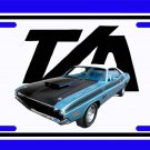 NEW Blue 1970 Dodge Challenger TA License Plate FREE SHIPPING!