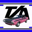 NEW Pink 1970 Dodge Challenger TA License Plate FREE SHIPPING!