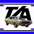 NEW Yellow 1970 Dodge Challenger TA License Plate FREE SHIPPING!