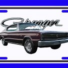 NEW 1966 Maroon Dodge Charger License Plate FREE SHIPPING!