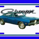 NEW Blue 1969 Dodge Charger License Plate FREE SHIPPING!