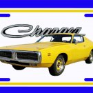 NEW Yellow 1971 Dodge Charger License Plate FREE SHIPPING!