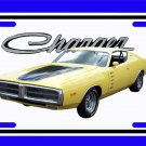 NEW Yellow 1972 Dodge Charger License Plate FREE SHIPPING!
