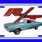 NEW Blue 1967 Dodge Coronet RT License Plate FREE SHIPPING!