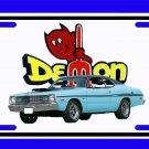 NEW Light Blue 1970 Dodge Demon License Plate FREE SHIPPING!