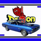 NEW Blue 1971 Dodge Demon License Plate FREE SHIPPING!