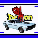 NEW White 1971 Dodge Demon License Plate FREE SHIPPING!