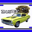NEW 1971 Yellow Plymouth Duster License Plate FREE SHIPPING!