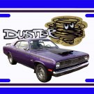 NEW 1972 Purple Plymouth Duster License Plate FREE SHIPPING!