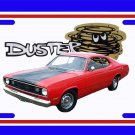 NEW 1972 Red Plymouth Duster License Plate FREE SHIPPING!