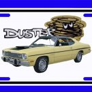 NEW 1974 Yellow Plymouth Duster License Plate FREE SHIPPING!